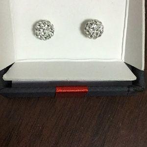 Sterling Silver  stud crystal earrings